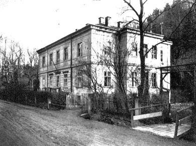 Der spätere Firmensitz der Assmannschen  Ankeruhrenfabrik in Glashütte um 1845