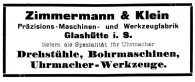 Die Uhrmacher Kunst Nr. 15 v. 1.Aug. 1919 Anzeigenteil