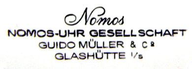Zifferblattsignatur der Firma