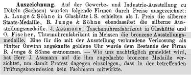 Deutsche Uhrmacher-Zeitung Nr.17 v.1. Sept. 1893 S. 134-135