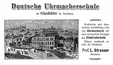 Werbeanzeige im Deutschen Uhrmacher-Kalender 1914