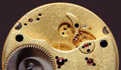 Werk Nr.1158 in erster Qualität von der Firma Ernst Kasike noch mit Glashütter Hemmung ausgeführt. ausgeführt.