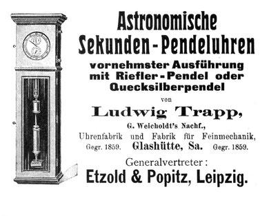 Werbeanzeige aus dem Jahr 1909
