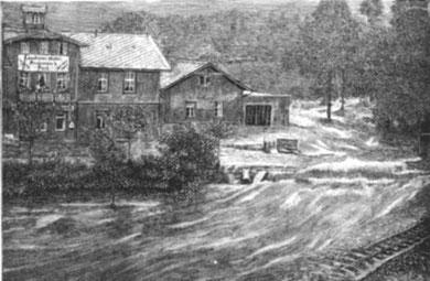 29./30. Juli 1897 Blick auf das Hotel zur Post