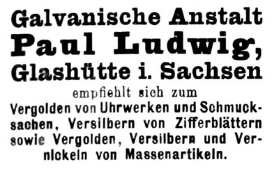 Die Uhrmacher Kunst Nr. Nr.1 v. 1.Jan. 1920 Anzeigenteil