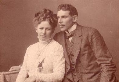 Julius mit seiner Ehefrau Meta