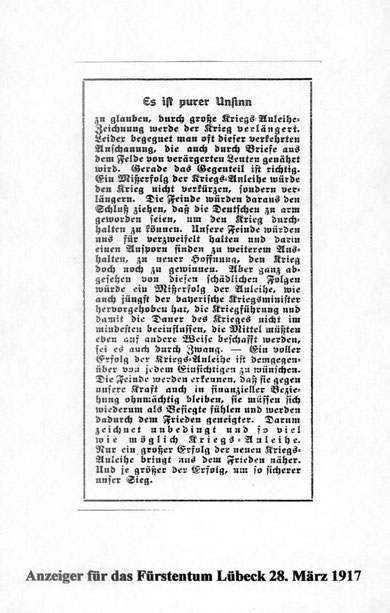 Kritik - Anzeiger März 1917