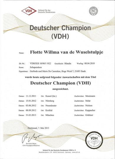 Titel verliehen im Mai 2013