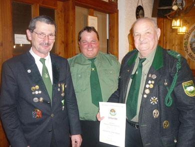 Otto Dietl für 50-jährige Mitgliedschaft beim OSB