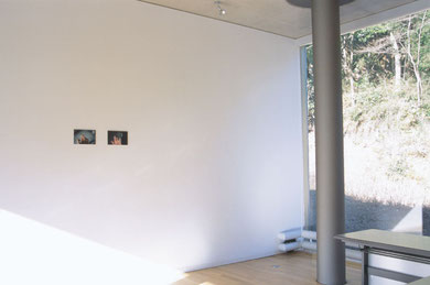 installation view of 'hello' and 'good evening'