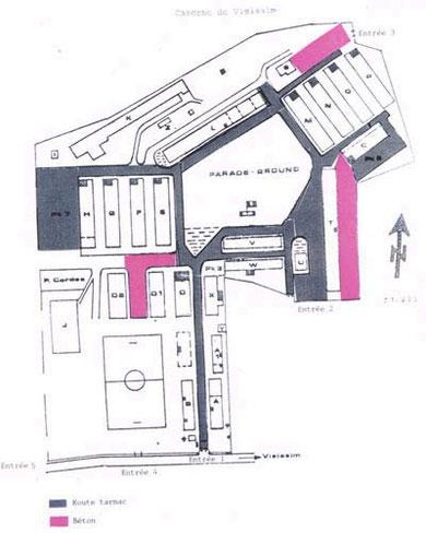 Lageplan der Kaserne Ratz - Vielsalm