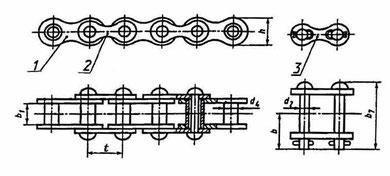 1 - внутреннее звено; 2 - наружное звено; 3 - соединительное звено;