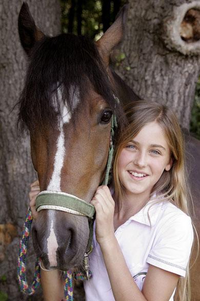 mit meinem Pferd