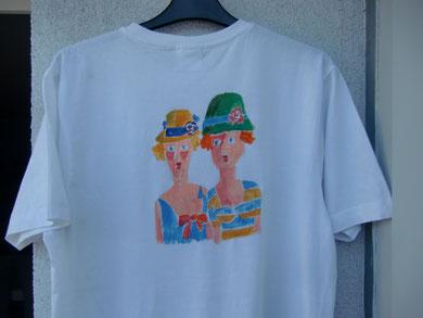 Diesmal kein Bild sondern ein T-Shirt bemalt :-)
