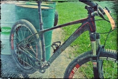 Davids Bike nach getaner Arbeit!