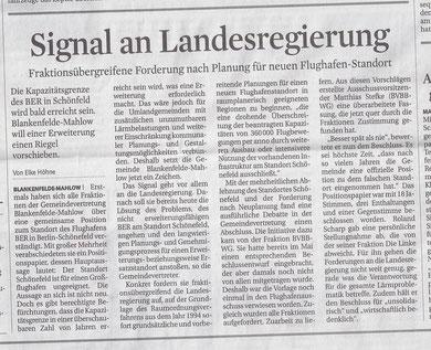 MAZ / Zossener Runschau 04.12.2012