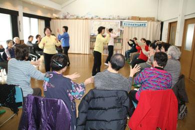 2月度いきいきサロン・歌体操・星田山手自治会館