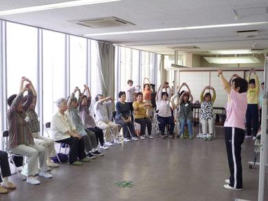 6月1日・いきいきサロン・歌体操・星田西3丁目集会所