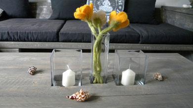 Loungetisch mit Glas