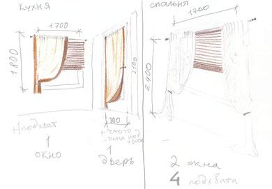 Дизайн штор современный