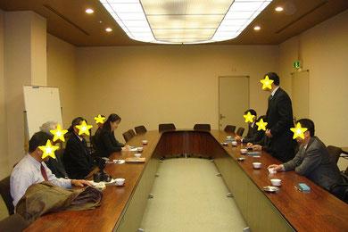 中国側の日本への表敬訪問にて通訳を担当しました。