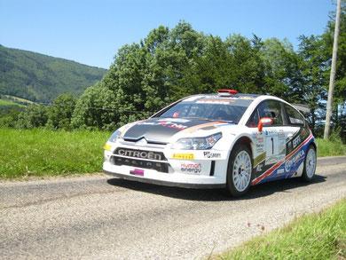 1er Scratch : Frédéric et Angélique Comte : C4 WRC - © Bé Bert