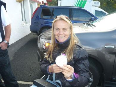 Félicitation à Perle Bouge, Médaille d'Argent Avirons aux jeux Paralympique Londres 2012 (intronisée à la Confrérie du Piment d'Espelette)