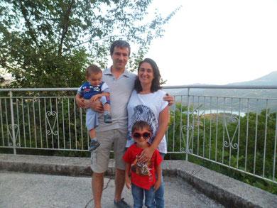 Lucio Degani e famiglia