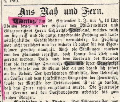 Der Bote aus dem Waldviertel  vom 1.10.1891