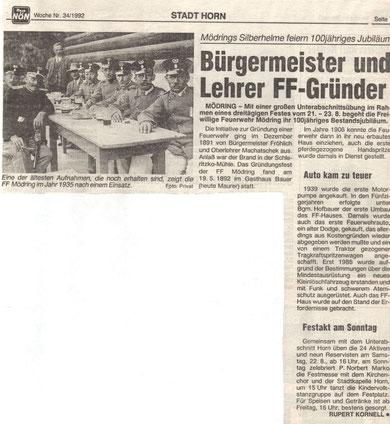 NÖN Horn/Eggenburg KW 34/1992