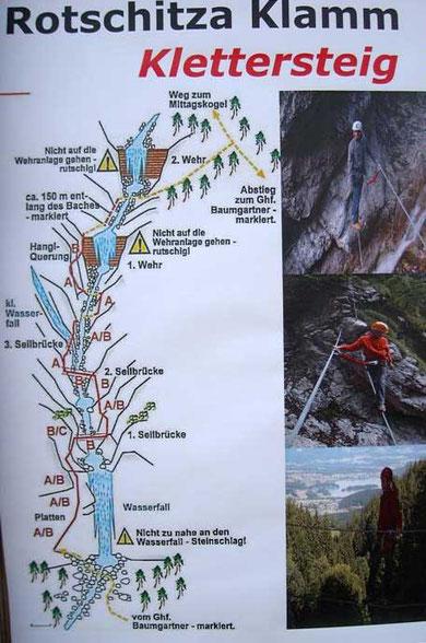 "Klettersteig ""Rotschitza Wasserfall"""