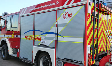 Feuerwehrauto Beschriftung