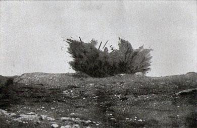 Explosion einer deutschen Landmine