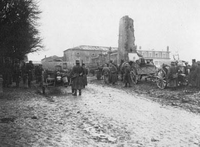 Das Dorf Billy im März 1918  - Quelle M.Massing