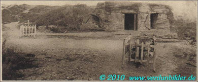 Fort de Vaux Totalansicht der Ost Bourges Kasematte