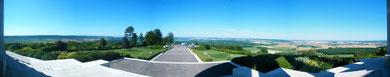 Panoramaaufnahme vom Monument aus in Richtung Norden