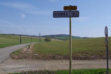 Blick von der Einfahrt in Richtung Cunel