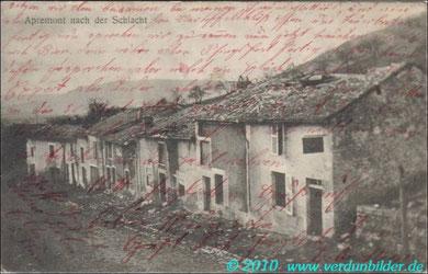 Apremont nach der Schlacht 1915