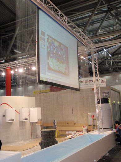 5 Meter Wasserwand und 3 Meter Rückprojektion