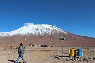 ボリビアとチリの国境付近