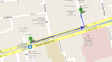 Bがミャンマー大使館です