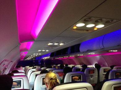 Virgin Americaの機内
