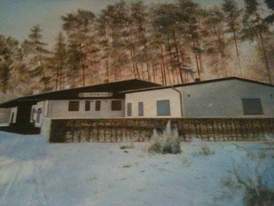 Unser Vereinsheim im Winter (Gemälde)