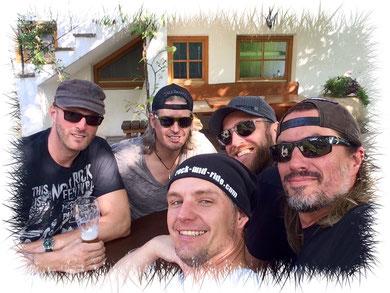 v.l.: Jens, Bertl, Tom, Schmausei & Mitch