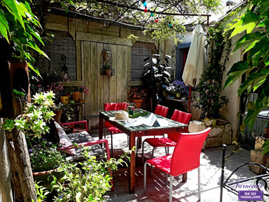 lovely patio of the tutor's home