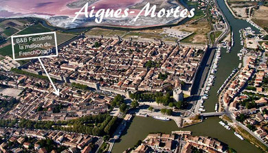 Aigues-Mortes is an amazing place for holidays in south of France. Surrounded by mediaeval walls, saltworks, vineyards... near by the mediterranean sea..