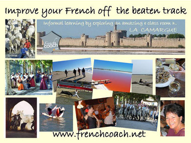 Experienced freelance French coach offers French language learning holidays in south of France, Languedoc Roussillon and Provence, active holidays for the curious learning traveller