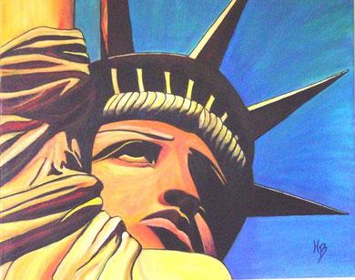 Freiheit Acryl auf Leinwand 100x80cm