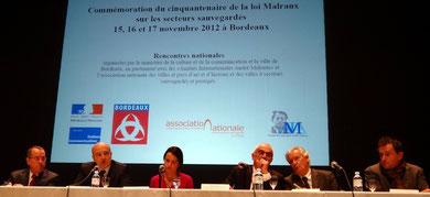 Cinquantenaire des secteurs sauvegardés à Bordeaux le 15 novembre 2012