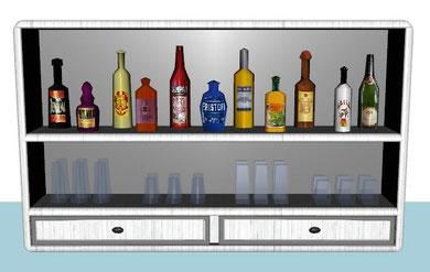 étagère du bar